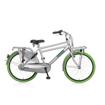 Popal Daily Dutch Basic Plus 24inch grijs-groen Jongens Transportfiets