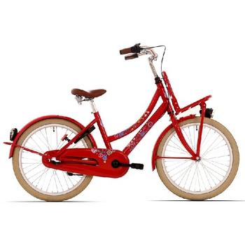Bike Fun Love & Peace N3 20inch rood meisjesfiets