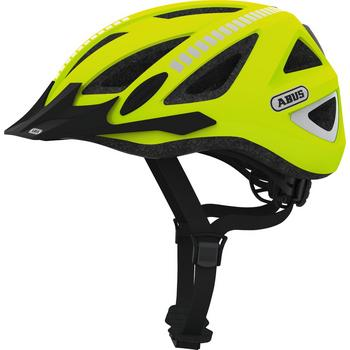Abus Urban-I 2.0 M signal yellow fiets helm