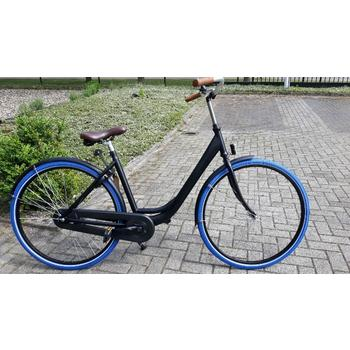TZbikes Urban black-blue 49cm damesfiets