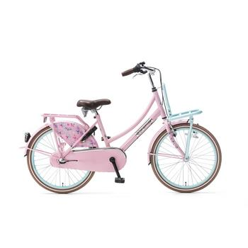 Popal Daily Dutch Basic Plus 22inch mint-roze Transportfiets