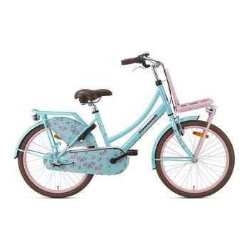 Popal Daily Dutch Basic Plus 22inch turquoise-roze Transportfiets