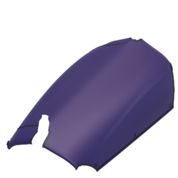 Flat-Cover Triobike Cargo purple