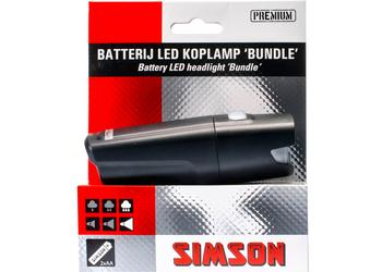 Simson koplamp Bundle led 25 lux batt