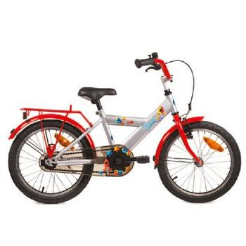 Bike Fun Space 12inch zilver-rood jongensfiets
