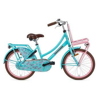 Popal Daily Dutch Basic 20inch turquoise-roze Transportfiets