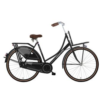 Hollandia Royal Dutch zwart-bruin 49cm Dames transportfiets