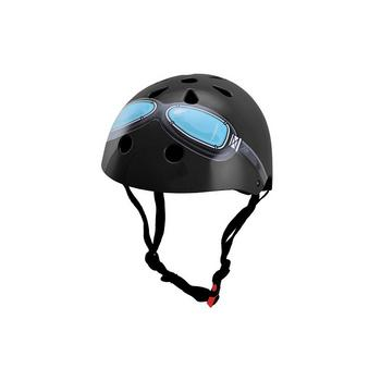 Kiddimoto black goggle Medium helm