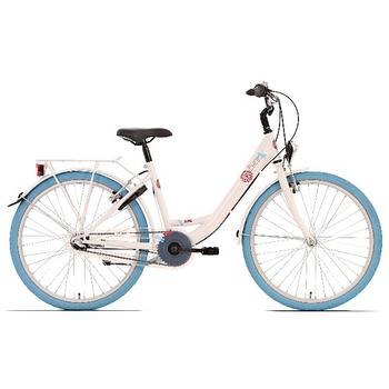 Bike Fun Pure 20inch wit-blauw meisjesfiets