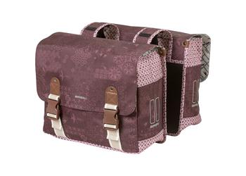 Basil dubb tas Boheme fig red