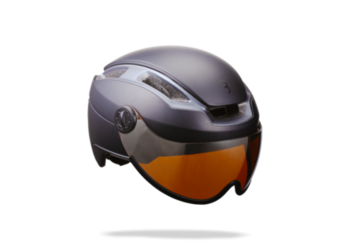 HELM INDRA FACESHIELD SMOKE MIRROR LENS L