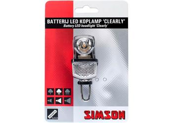 Simson koplamp Clearly 7 lux batt