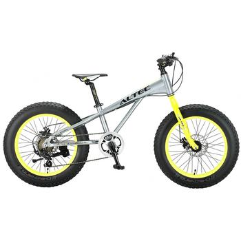 Altec Fat Bike 7-speed 20inch grijs-geel Fatbike