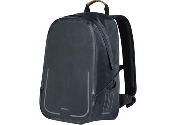 Basil backpack Urban dry matt black