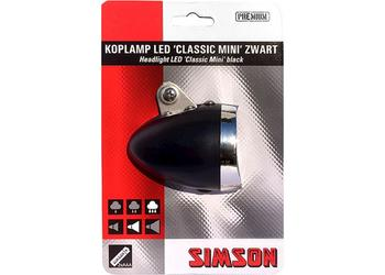 Simson koplamp Classic mini led 4 lux batt