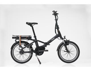 Qwic E-bike Compact MN7 Vouwfiets Middenmotor Matte Black