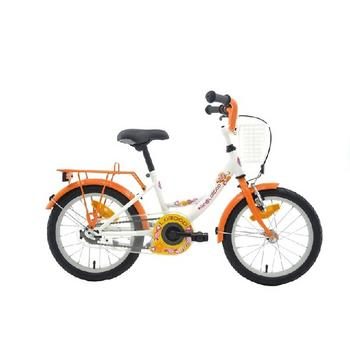 Bike Fun Lollipop 16inch wit-oranje meisjesfiets
