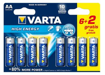 Batt Varta Penlite Lr06 Aa High Energy Ds A 8
