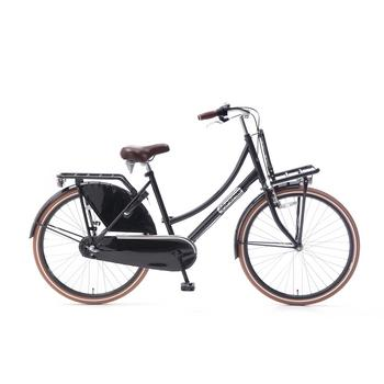 Popal Daily Dutch Basic Plus 26inch glanszwart Transportfiets