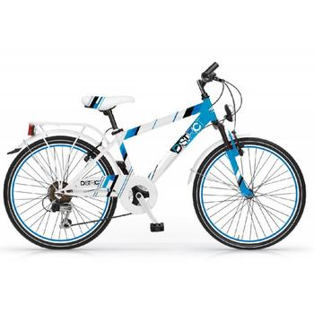 MBM District 6-speed 20inch wit-blauw jongensfiets