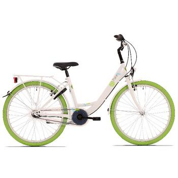 Bike Fun Pure N3 26inch wit-groen meisjesfiets