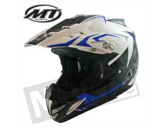 Helm KIDS Synchrony Steel MT Cross Off Road helm Zwart/Wit/Blauw XXXS