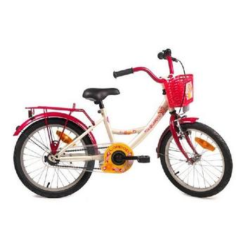 Bike Fun Lollipop 12inch creme-rood meisjesfiets