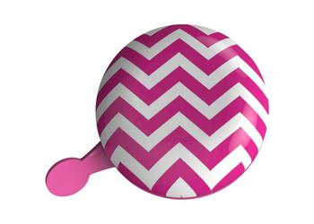 UP Dingdong bel 80mm Chevron Roze