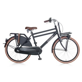Popal Daily Dutch Basic Plus 24inch matzwart Jongens Transportfiets