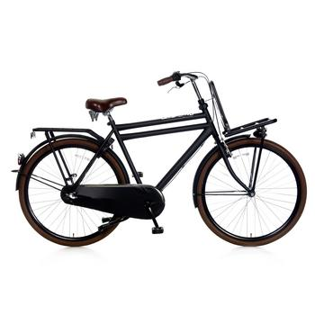 Popal Daily Dutch Basic Plus 50cm matzwart Heren Transportfiets