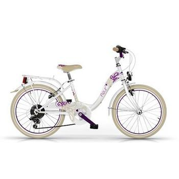 Wings Fleur 6-speed 20inch wit meisjesfiets