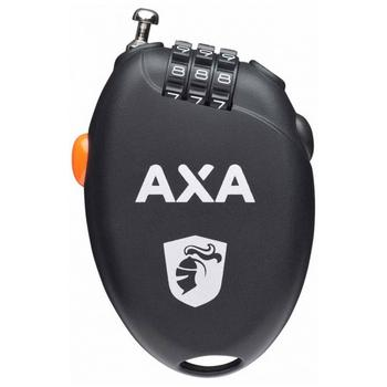 Axa Roll Retractable/Uittrek Slot 75Cm/1.6Mm Zwart