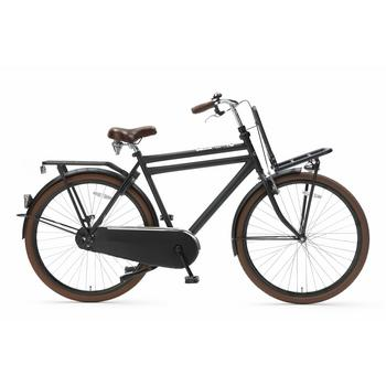 Popal Daily Dutch Basic 50cm matzwart heren transportfiets