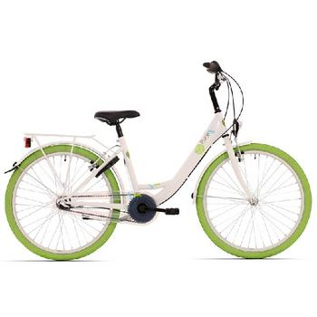 Bike Fun Pure N3 24inch wit-groen meisjesfiets