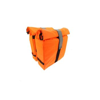 Beck Roll fluo orange dubbele fietstas