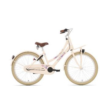 Bike Fun Love & Peace N3 24inch creme meisjesfiets