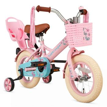 SuperSuper Little Miss 12inch roze meisjesfiets