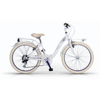 Wings Fleur 6-speed 24inch wit meisjesfiets