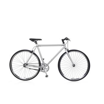 Popal Fixie zilver fixed gear fiets