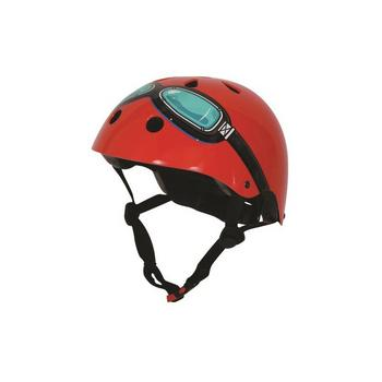 Kiddimoto red goggle Medium helm