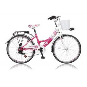 Wings Diva 6-speed 20inch fuchsia meisjesfiets