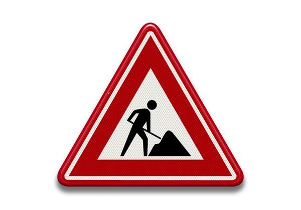 Verkeersbord RVV - J16 Waarschuwing voor werk in uitvoering