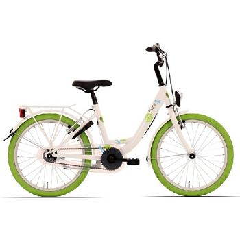 Bike Fun Pure 20inch wit-groen meisjesfiets