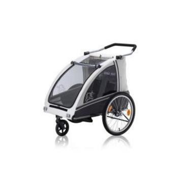 Vantly Kiddy Buggy-Trailer zilver/grijs
