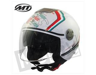 Helm Jet City Eleven Italy MT 2 Vizieren Wit XS/S/M/L/XL OPRUIMING