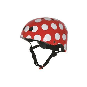 Kiddimoto red dotty Medium helm