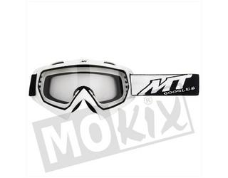 Bril Wit Synchrony Steel MT Cross Off Road helm