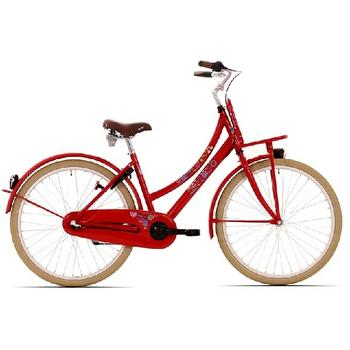 Bike Fun Love & Peace N3 26inch rood meisjesfiets