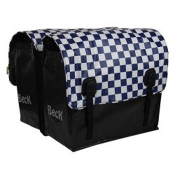 Beck Big navy checker bisonyl Dubbele Fietstas