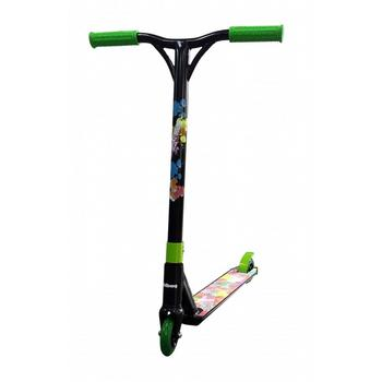 JD Bug MS118 BMX Freestyle zwart-groen stuntstep